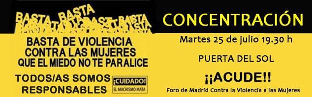 Concentración 25 Julio Madrid